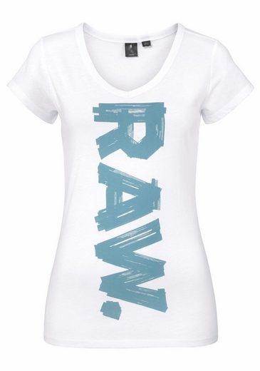 G-Star RAW V-Shirt Thilea, mit Logodruck