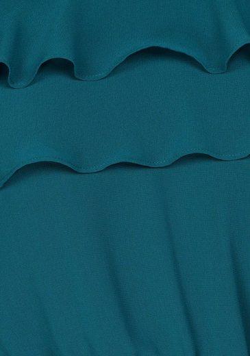 Pepe Jeans Abendkleid RIANA, mit Volantdetail