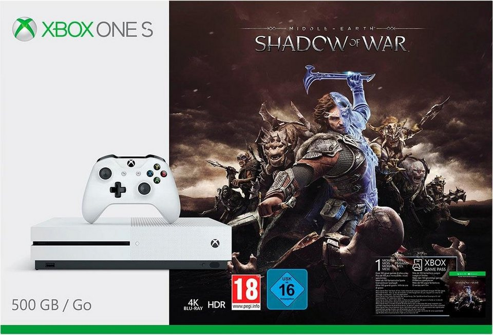 xbox one s 500gb shadow of war 4k ultra hd otto. Black Bedroom Furniture Sets. Home Design Ideas