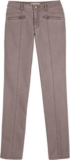 Collection L. Jeans mit Ziernaht im Vorderteil