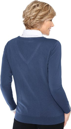 Classic Pullover in modischer 2-in-1-Optik