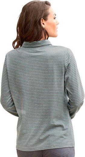 Collection L. Shirt im garngefärbten Melange Ringel