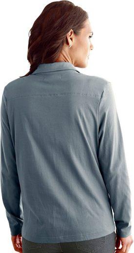 Collection L. Shirt mit Schnürung im Vorderteil