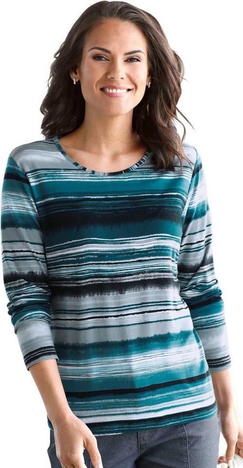Damen Collection L. Shirt im modischen Ringelmuster blau | 08698123261907