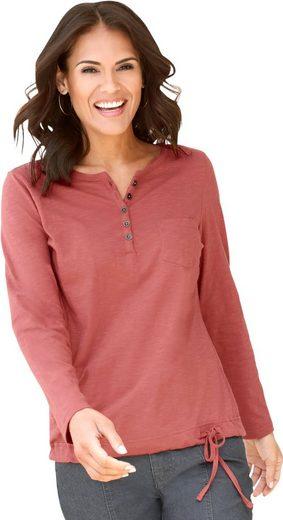Collection L. Shirt mit Bändchendurchzug im Saum