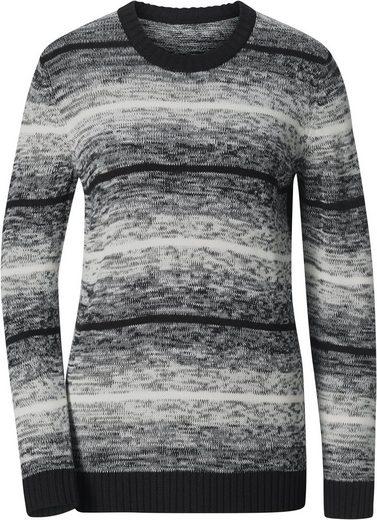 Classic Basics Pullover aus weichem Melangegarn