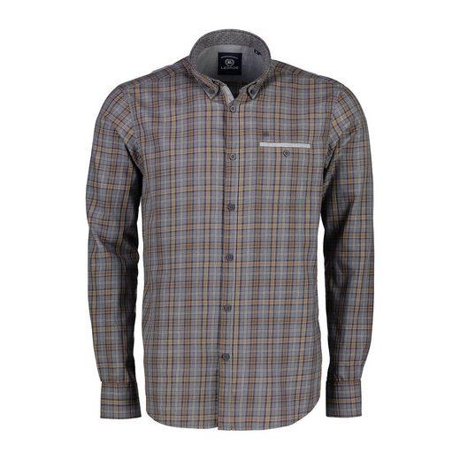 LERROS Langarmhemd mit Melangecheck