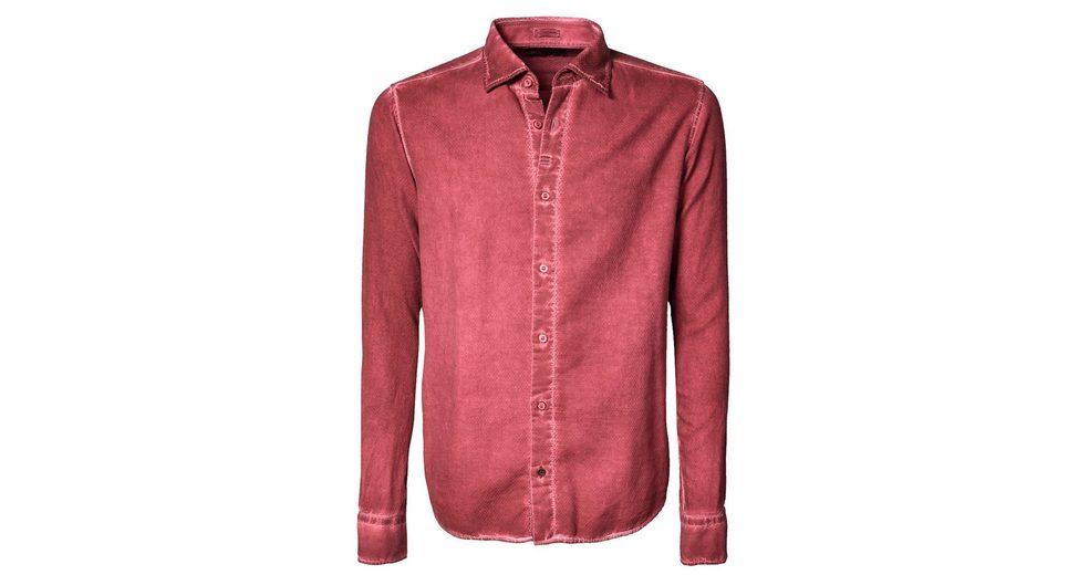 Signum Gebrushtes Rugged Hemd mit Cold Dye Effekt