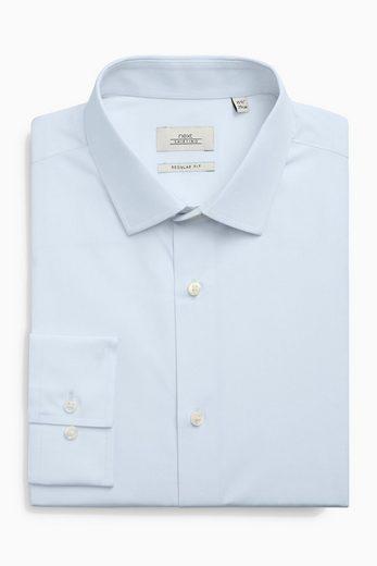 Next Strukturierte Hemden, weiß, blau und rosa, 3er-Pack 3 teilig