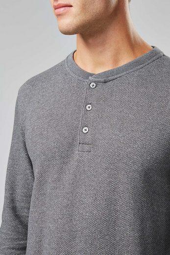 Next Langärmeliges Shirt mit Knopfleiste und struktur