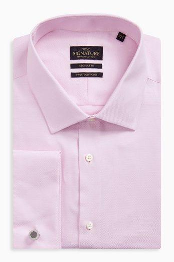 Next Regular-Fit Premium-Hemden mit Manschettenknöpfen
