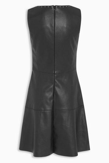 Next Kleid in Lederoptik mit Nietendetail