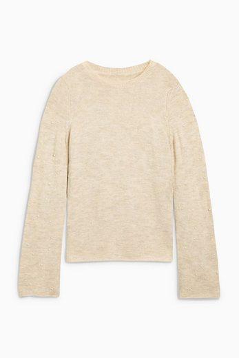 Next Pullover mit perlenbesetzten Ärmeln