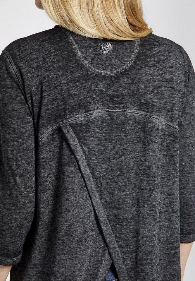 khujo Oversize-Shirt »SOLVEIG« mit Wickel-Optik im Rücken