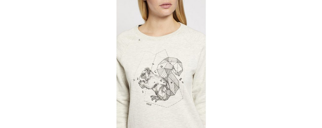 khujo Sweatshirt RENIA, mit grafischem Print auf den schultern