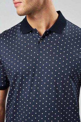 Next Premium-Poloshirt mit Tupfenprint