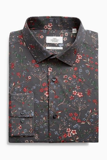 Next Slim-Fit Hemd mit floralem Print