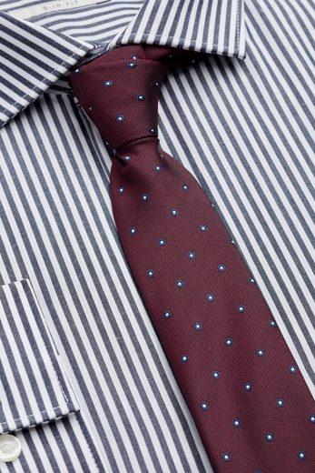 Next Slim-Fit-Hemden mit Bengal-Streifen im 2er-Pack mit Krawatte 3 teilig