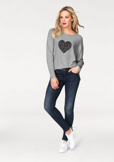 Only Crew-neck Sweater Sequinny, Turn Sequin With