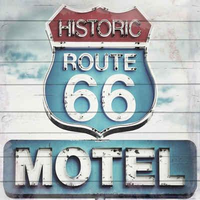 Home affaire Holzbild »Route 66 Motel«, 40/40 cm