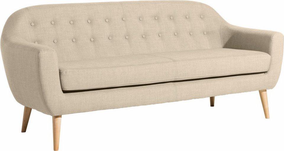 Max Winzer® 3-Sitzer Sofa »Kunni« mit dekorativen Knöpfen, im ...