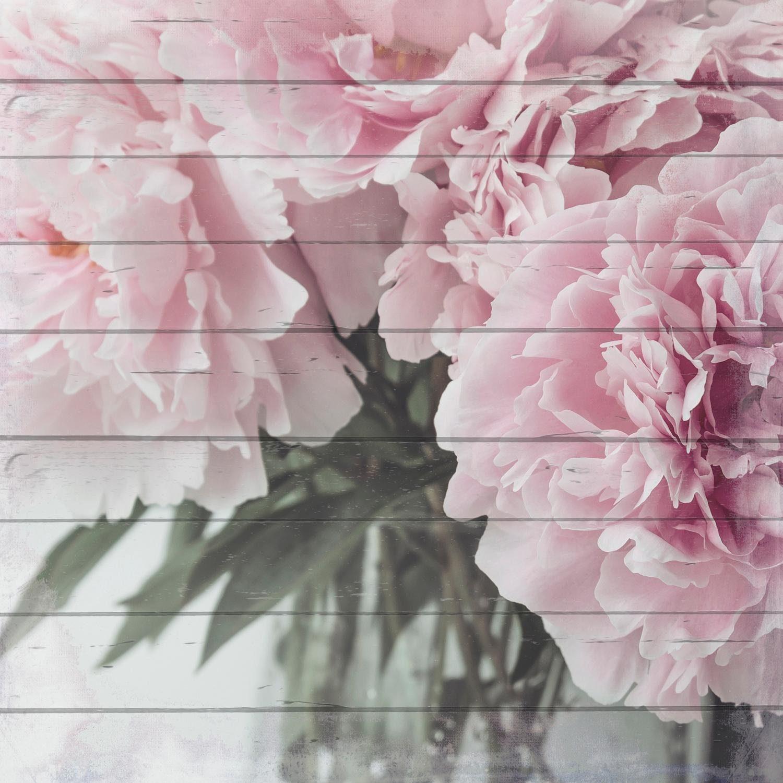 Home affaire Holzbild »Blumenstrauß«, Blumen, 40/40 cm