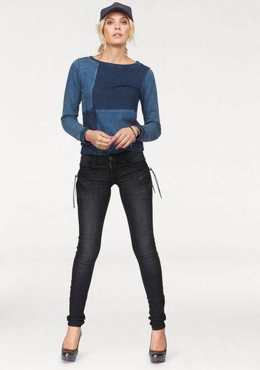 Arizona Skinny-fit-jeans Mit Zippertaschen, Low Waist