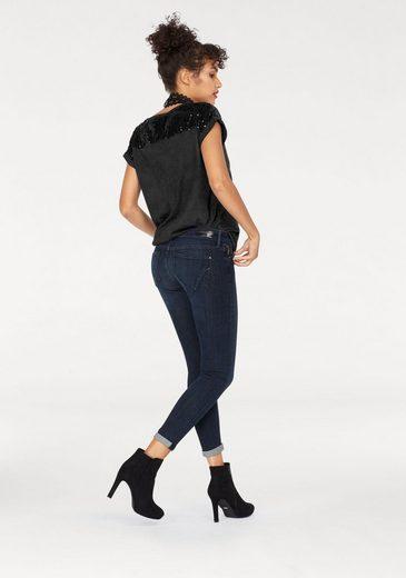 Mavi Jeans T-Shirt SEQUIN TOP, mit Pailletten bestickt