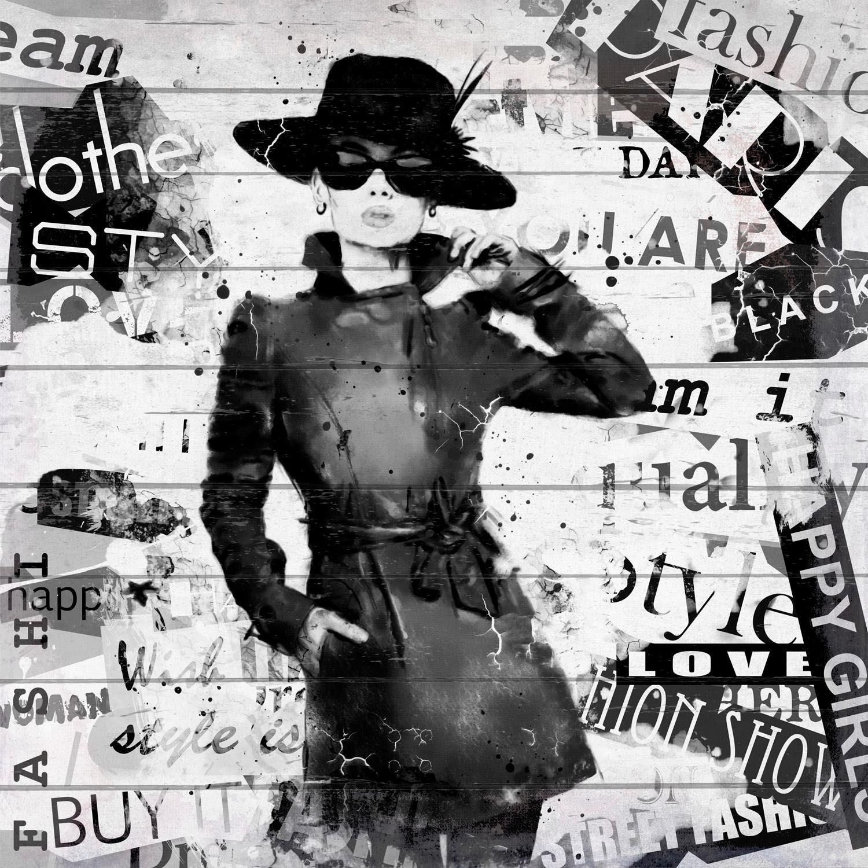 Home affaire Holzbild »Fashion A. Hepburn« 40/40 cm