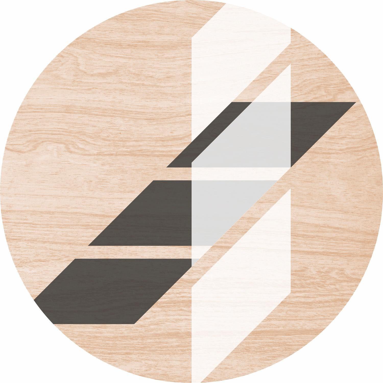 Home affaire Holzbild rund »Block-Streifen« 30/30 cm