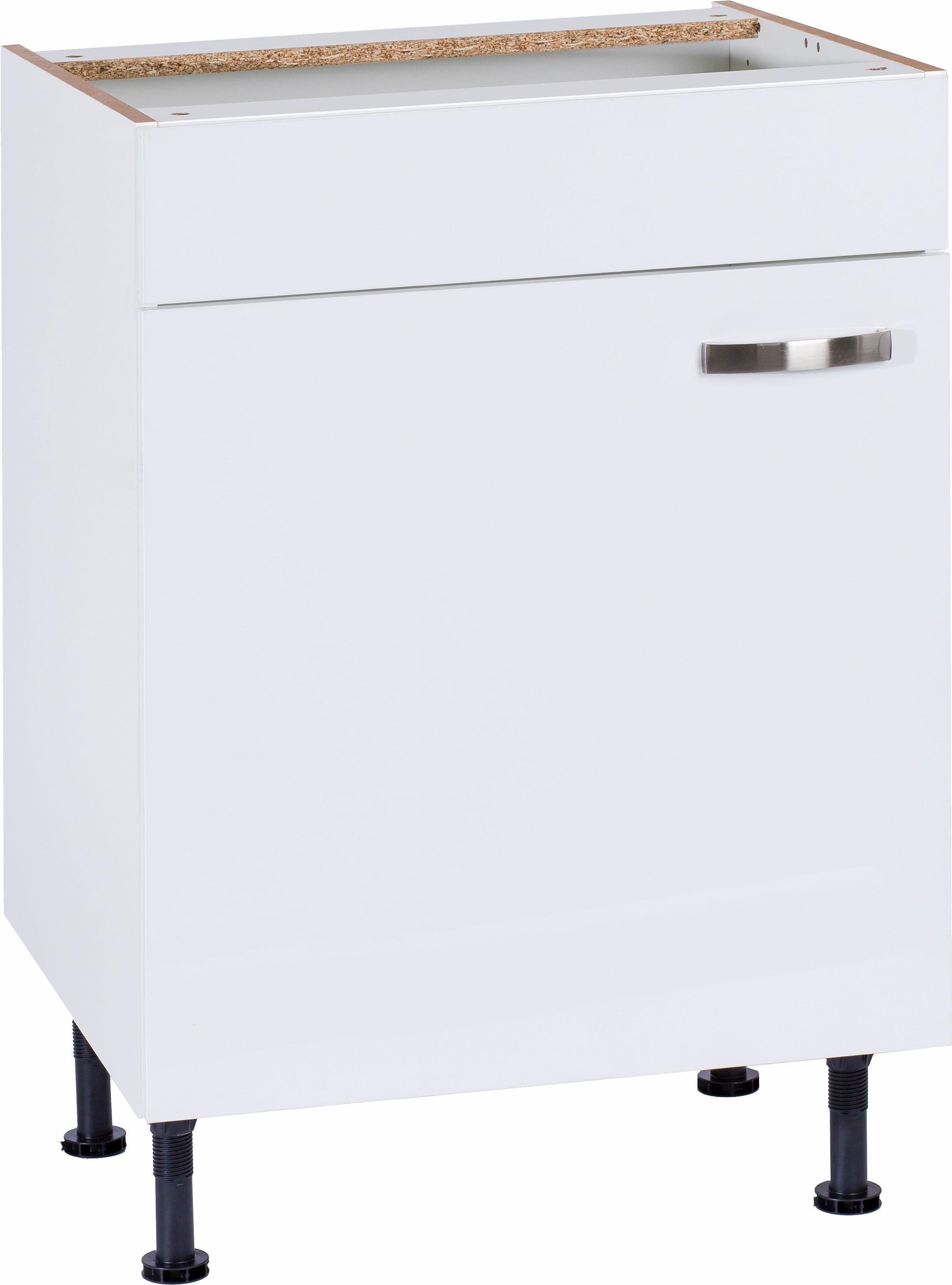 OPTIFIT »Cara« Spülenschrank, Breite 60 cm | Küche und Esszimmer > Küchenschränke > Spülenschränke | Anthrazit - Weiß - Glanz | Beton - Glänzend - Mdf - Melamin | OPTIFIT