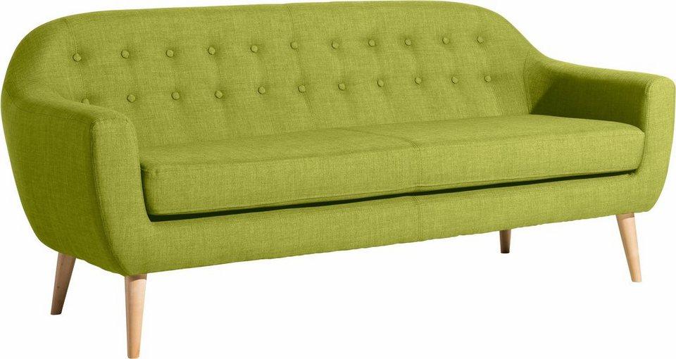 max winzer 3 sitzer sofa kunni mit dekorativen kn pfen im scandic look online kaufen otto. Black Bedroom Furniture Sets. Home Design Ideas