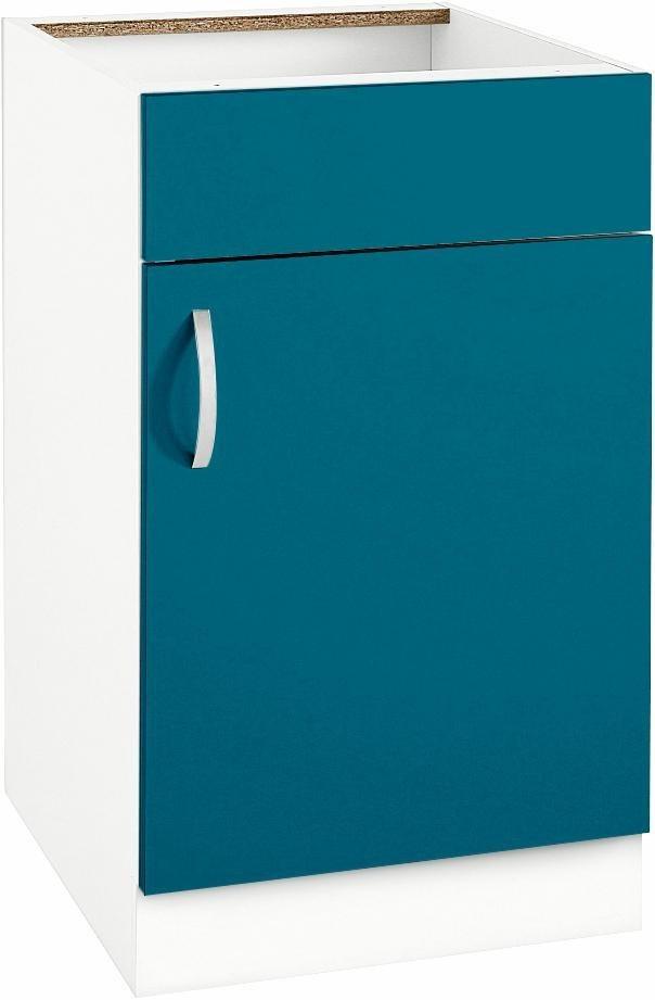 Spülenschrank »Flexi«, Breite 50 cm | Küche und Esszimmer > Küchenschränke > Spülenschränke | Anthrazit - Weiß - Matt - Rot - Glanz | Melamin | wiho Küchen