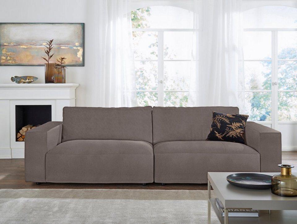 GALLERY M Big-Sofa 3-Sitzer »Lucia« in vielen Qualitäten und 4 ...