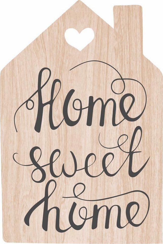 home affaire holzbild home sweet home schriftzug 40 60. Black Bedroom Furniture Sets. Home Design Ideas