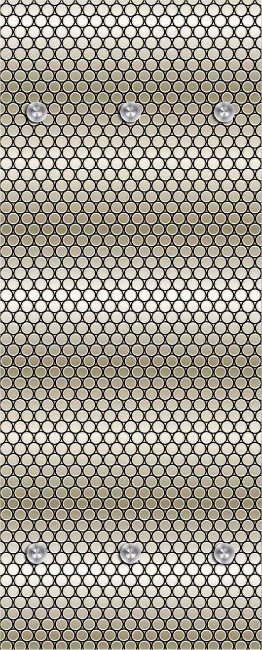 queence Garderobenpaneel »Punkte«, mit 6 Haken, 50 x 120 cm
