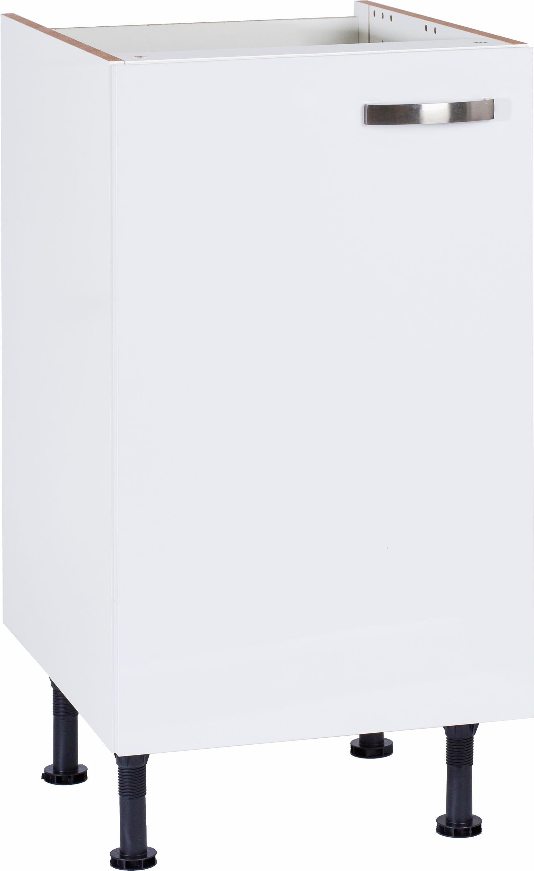 OPTIFIT »Cara« Spülenschrank, Breite 45 cm | Küche und Esszimmer > Küchenschränke > Spülenschränke | Anthrazit - Weiß - Glanz | Beton - Glänzend - Mdf - Melamin | OPTIFIT