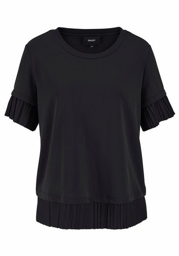 Object Oversize-Shirt Ramona, mit top-modischen Plissee-Details