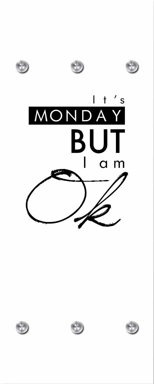 Garderobe »It´s Monday but« 50/125 cm