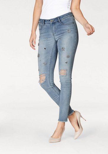 Melrose Stretch-Jeans, mit Schmucksteinen