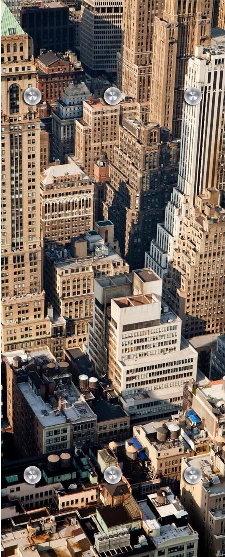 Garderobe »Großstadt von oben« 50/125 cm