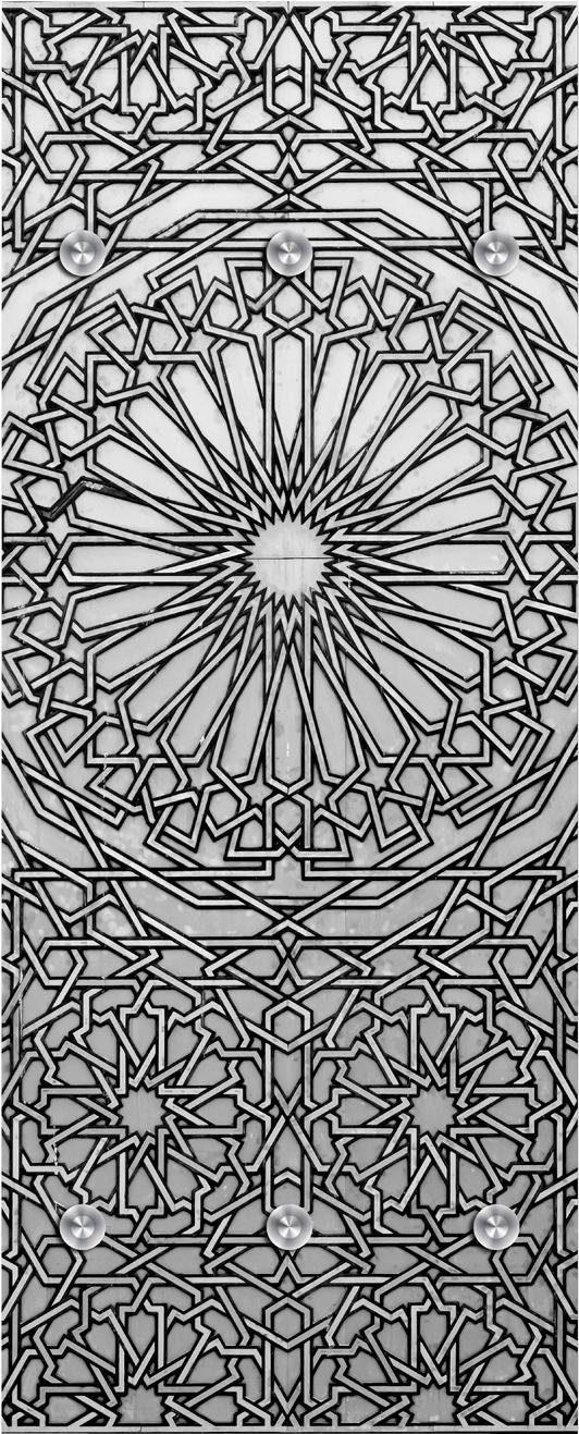 Garderobe »Blumenmuster abstrakt« 50/125 cm