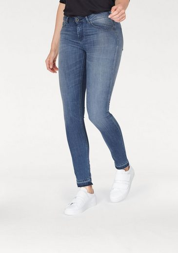 Scotch & Soda Stretch-Jeans La Bohemienne, mit offener kante am Bein