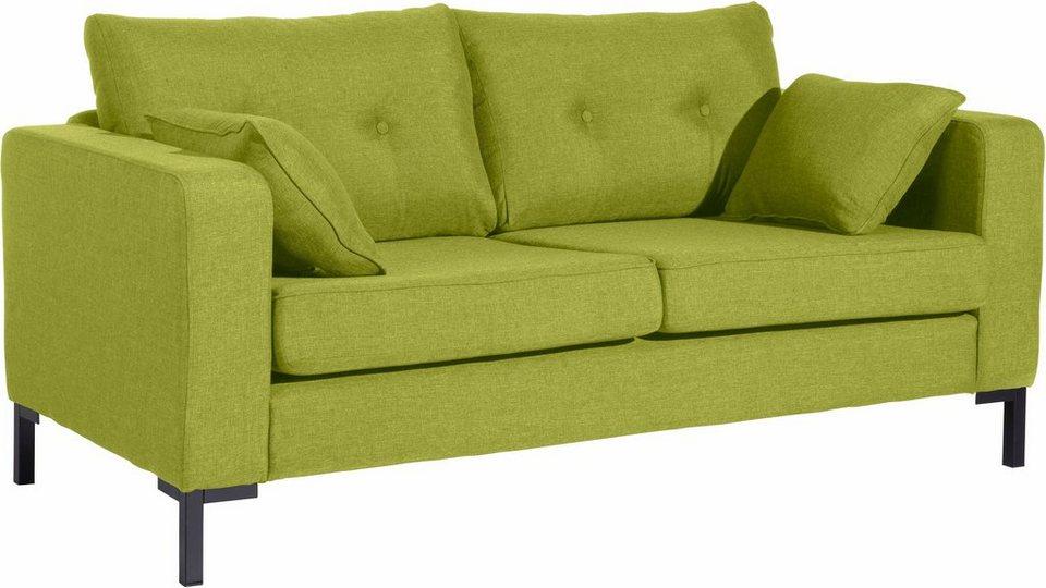 max winzer 2 sitzer sofa timber mit dekorativen kn pfen inklusive zierkissen online kaufen. Black Bedroom Furniture Sets. Home Design Ideas