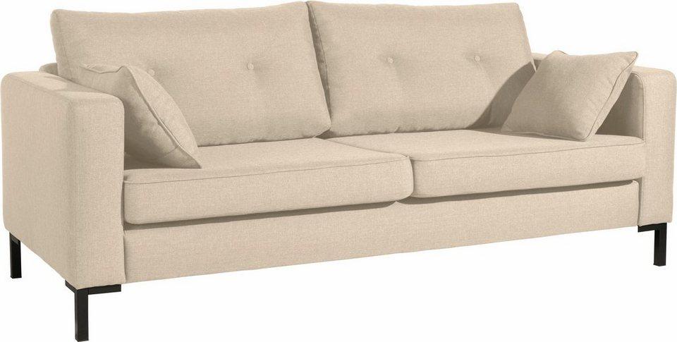 Max Winzer® 3-Sitzer Sofa »Timber« mit dekorativen Knöpfen ...