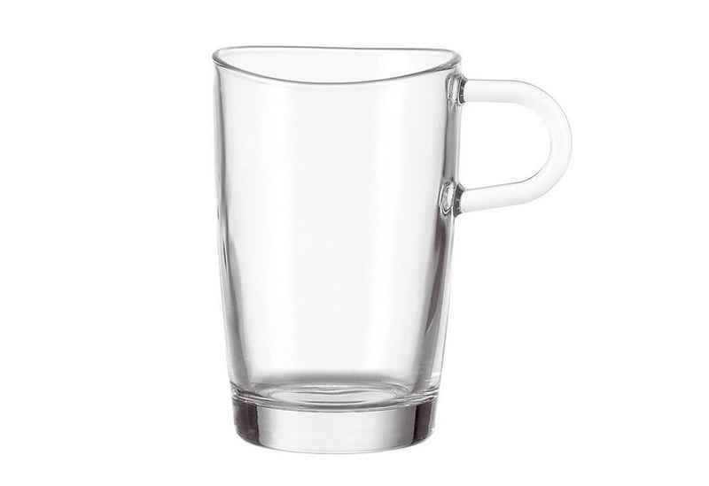 LEONARDO Latte-Macchiato-Glas »Loop«, Glas, 6-teilig