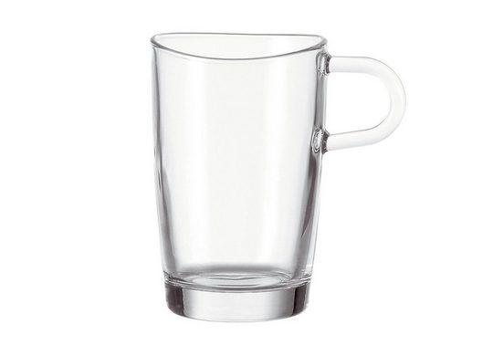 LEONARDO Latte-Macchiato-Glas »Loop« (6-tlg), Glas