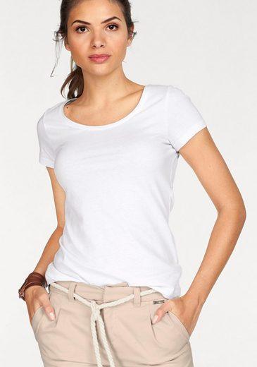 Tom Tailor Polo Team T-Shirt (Packung, 2 tlg., 2er-Pack), im Doppelpack Ringel-, Druck oder Uni-Muster