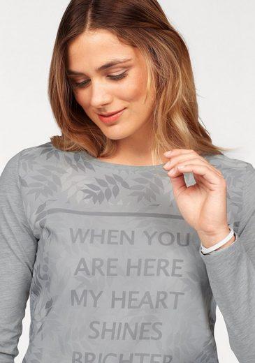 Boysen's Langarmshirt, mit edlem Materialmix