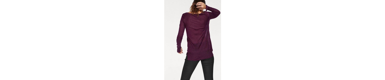 Tom Tailor V-Ausschnitt-Pullover, aus extra-leichtem Glitzer-Feinstrick